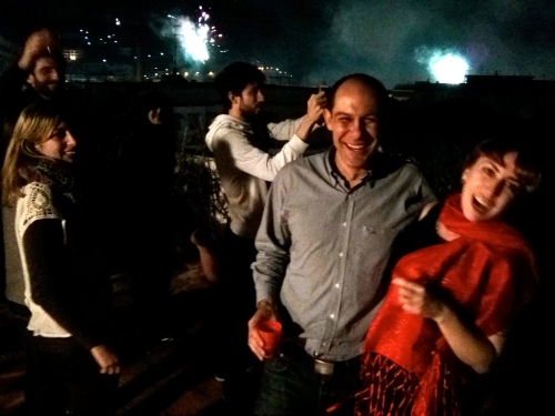 Celebrating New Years Eve in Sorrento, Italy.