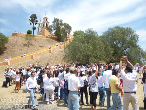 Celebrating the Spring Equinox in San Andres Cholula, Mexico.