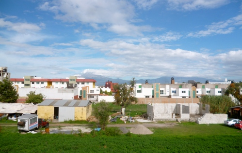 View from our apartment in San Andres Cholula during the day