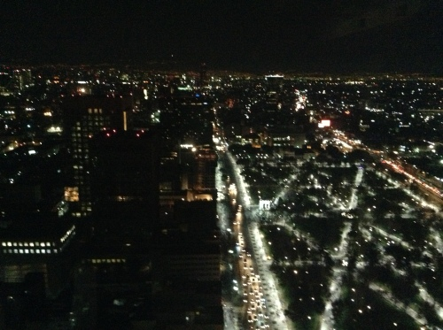 View from the top of the Torre Latino at night.