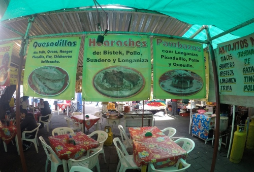 At a market in Xochimilco