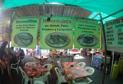 At a market in Xochimilco