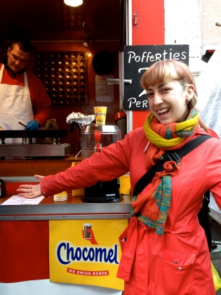 I do love the poffertjes (small, thick pancakes) available in the markets