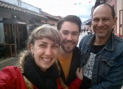 Myself, Evan, and Enrique exploring the center of San Cristoba