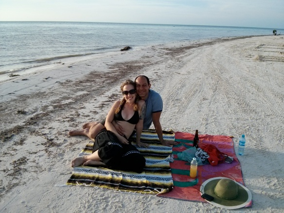 Late lunch/early dinner on New Year's Eve in Holbox. Not bad.