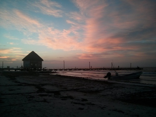 This is why you stay on the beach in Holbox. For these views.