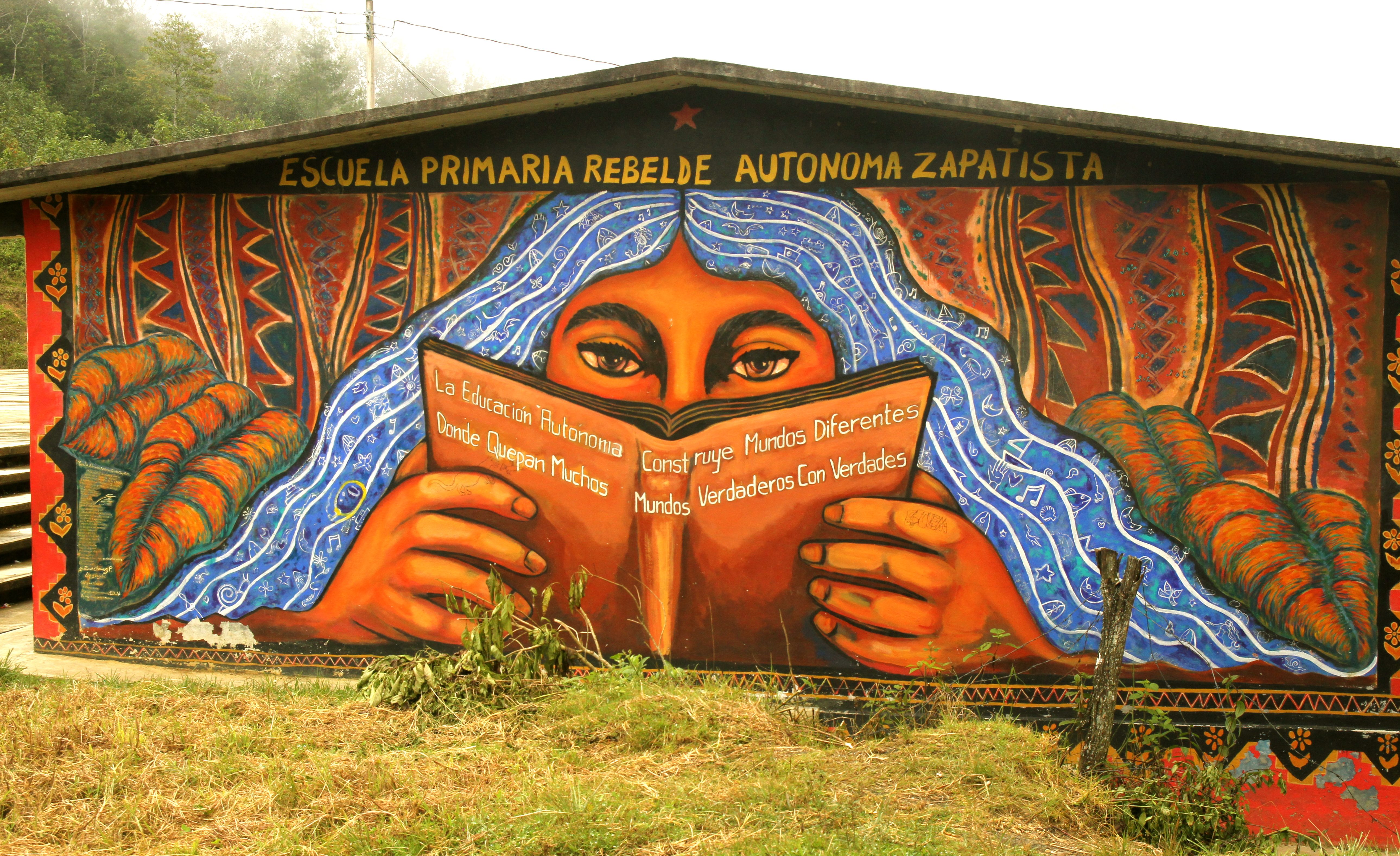 image gallery ezln murals On mural zapatista