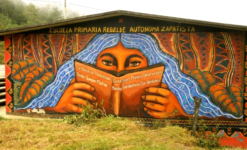 Mural outiside Oventic, Chiapas, Mexico - Zapatista Territory
