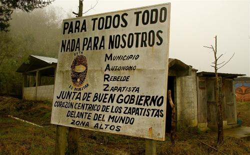 Para todos tod, nada para nosotros - Oventic, Chiapas, Mexico