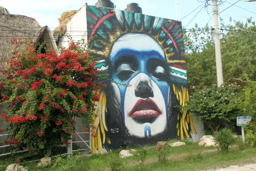 Street murals in Holbox