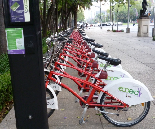 Mexico City's public bike-sharing program, the eco-bici