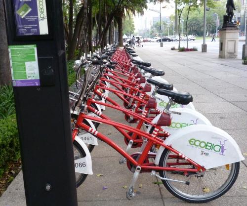 Mexico City's public bike-sharing program, the eco-bici