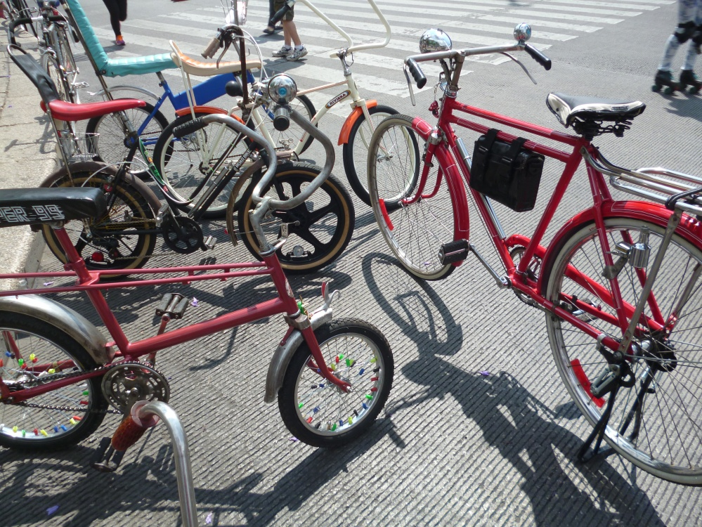 A selection of bicycles in D.F.