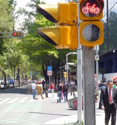 Bike traffic lights in DF