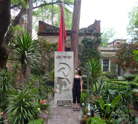 Outside Trotsky's house