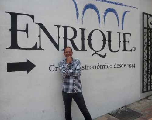 Enrique in front of Enrique's