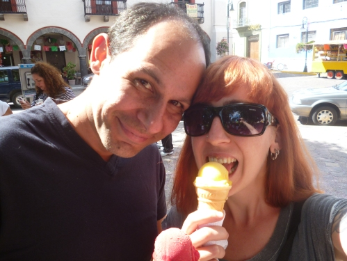 My first month in Mexico. New hair, warm sun, ice cream.