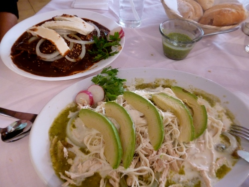 Mexican Lunch in Puebla - enchiladas