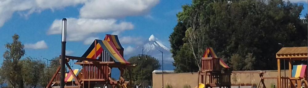 Volcano and playground